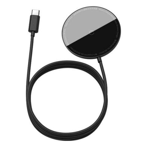 شارژر وایرلس مگنتی بیسوس Baseus Simple mini Magnetic Wireless Charger BS-W522 WXJK-H03