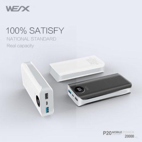پاوربانک وکس WEX P20 WEX - P20 Power Bank 20000mAh