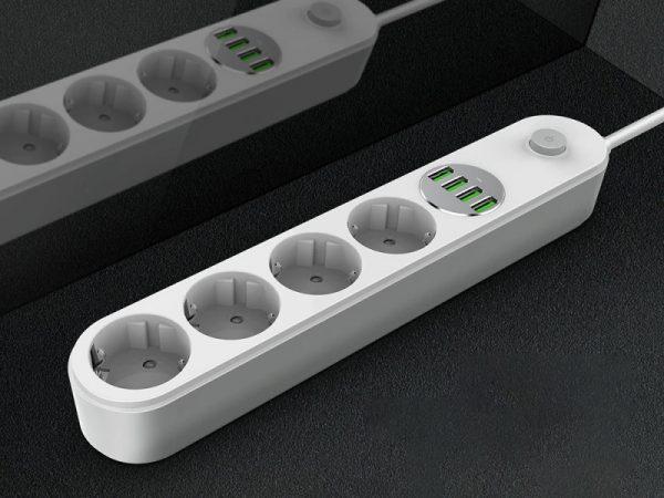 چند راهی برق و شارژر الدنیو LDNIO USB Power Adapter Charger SE4432