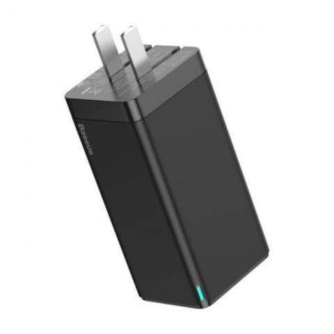 شارژر دیواری سریع بیسوس Baseus GaN2 Quick Charger Dual TYPE-C CCGAN-C01 45W