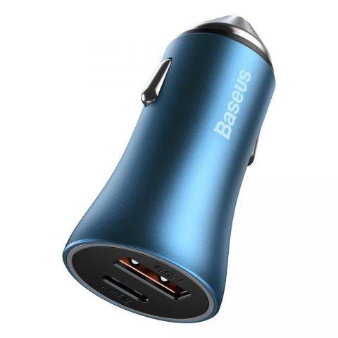شارژر فندکی بیسوس Baseus Golden Contactor Pro Dual Quick Charger TZCCJD-03