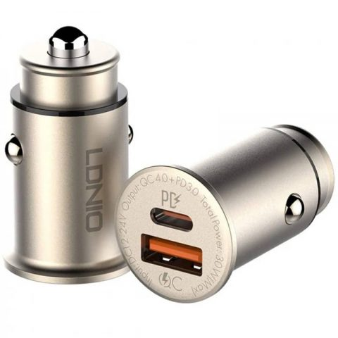 شارژر فندکی فست شارژ الدینیو LDNIO C506Q USB-C PD QC4 Fast Car