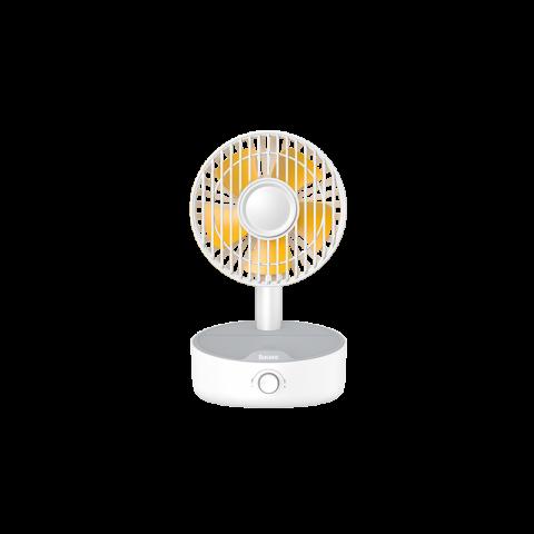 پنکه رو میزی همراه با شارژر وایرلس Baseus Hermit Desktop Wireless Charger with Oscillating Fan WXYZ-A01