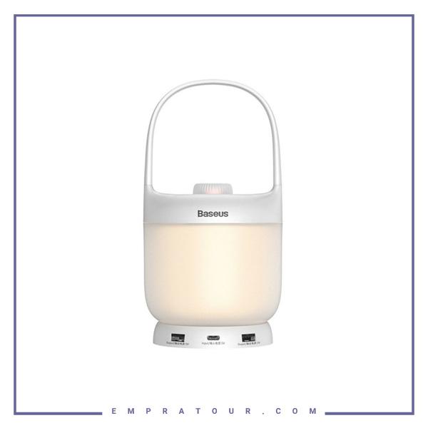چراغ خواب هوشمند بیسوس Baseus Moon-white Stepless Dimming Portable Lamp DGYB-02.jpg