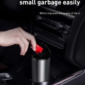سطل زباله اتومبیل بیسوس Baseus Gentleman Style Vehicle-mounted Trash Can CRLJT-01