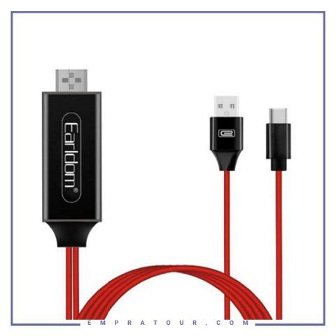 کابل HDMI به تایپ سی Earldom ET-W12 4K HD Cable