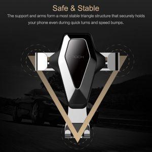 پایه نگهدارنده گوشی راک ROCK RPH0872 Gravity Air Vent Car Mount SE